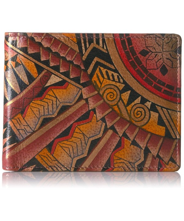 Anuschka Painted Leather Blocking Wallet