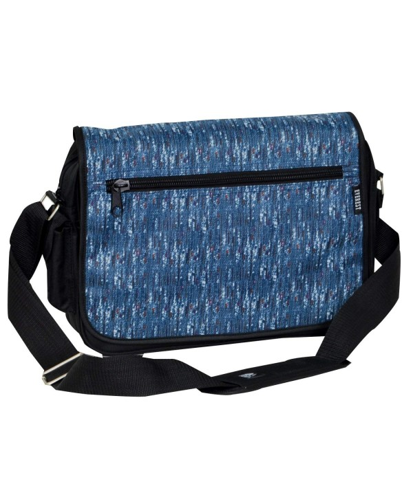 Everest Casual Messenger Briefcase Blue