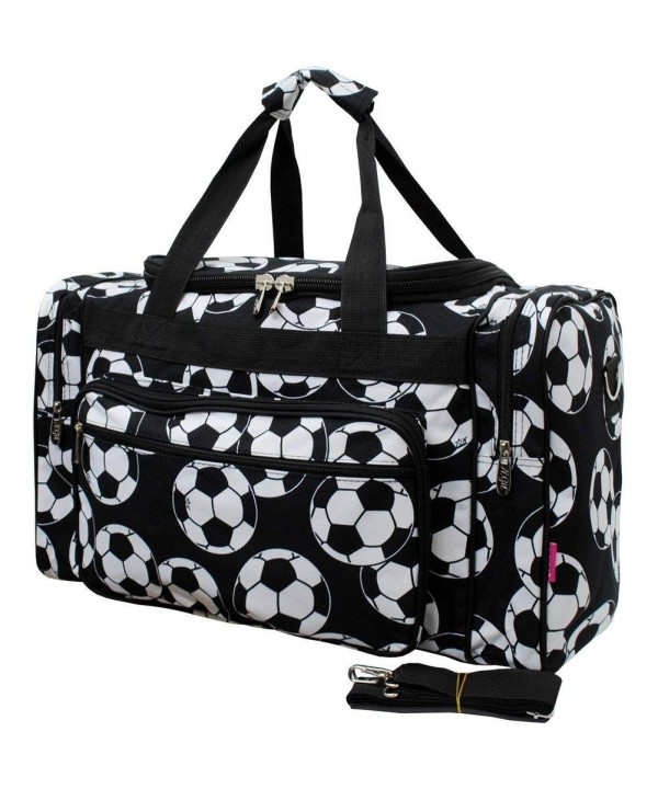 Soccer Print Medium Shoulder Duffle