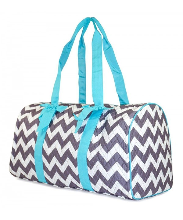 NGIL Chevron Quilted Duffle Teal