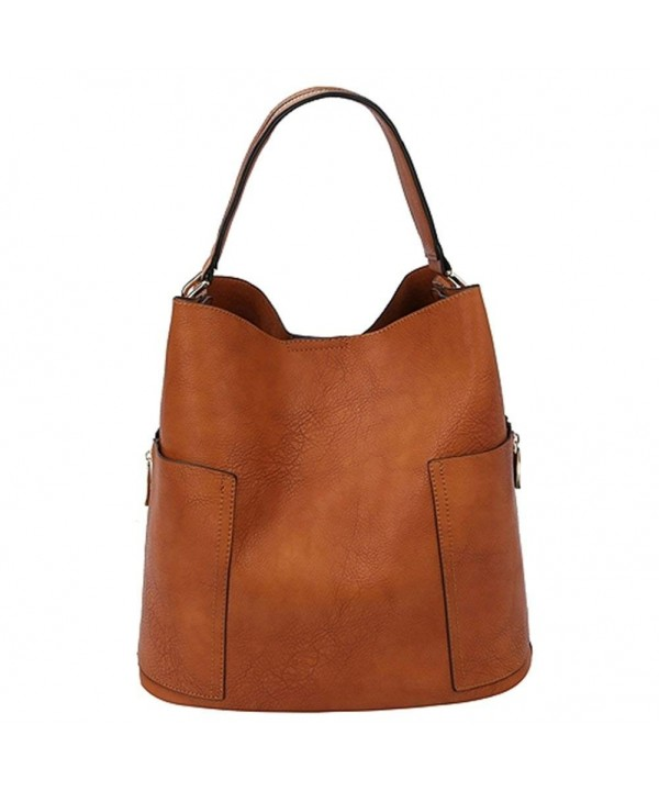 Shoulder Handbag Adjustable Messenger BROWN