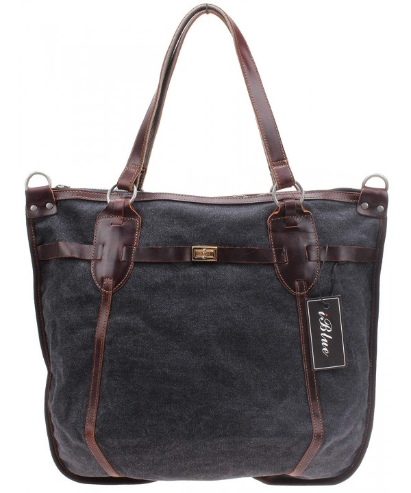 Iblue Canvas Shoulder Travel Handbag