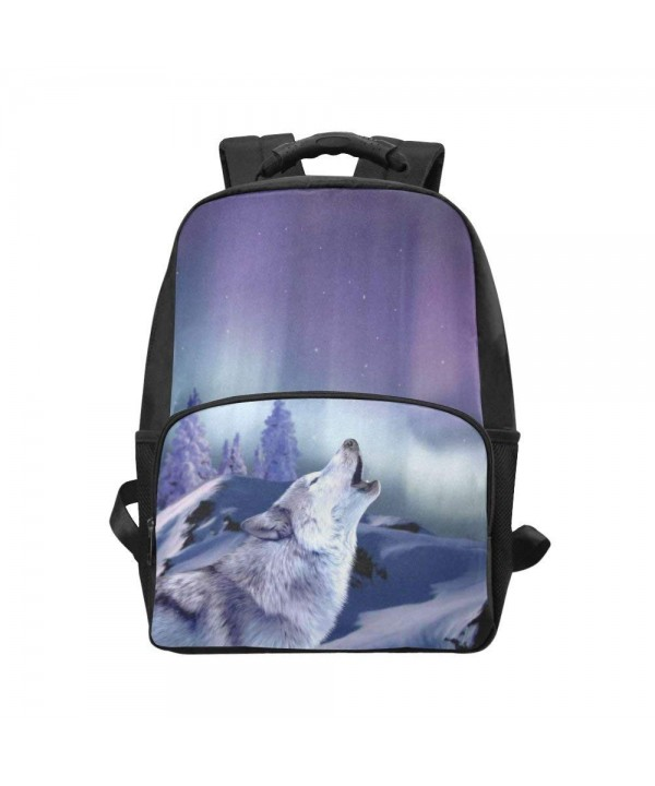 InterestPrint Howling Purple Backpack Daypack
