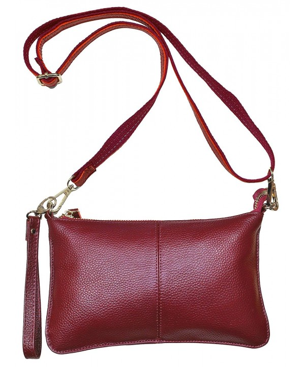 Beurlike Womens Leather Crossbody Wristlet