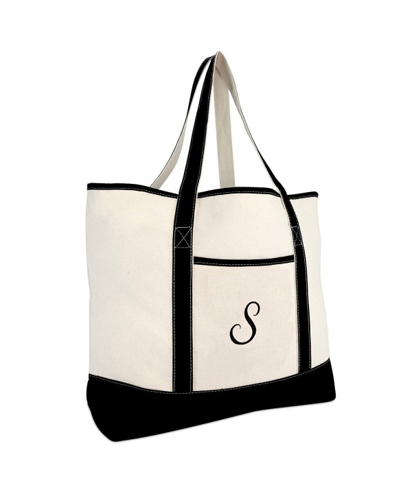 DALIX Monogram Personalized Totes Letter