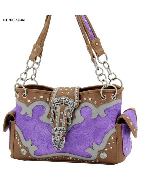 Western Rhinestone Buckle Concealed Handbag