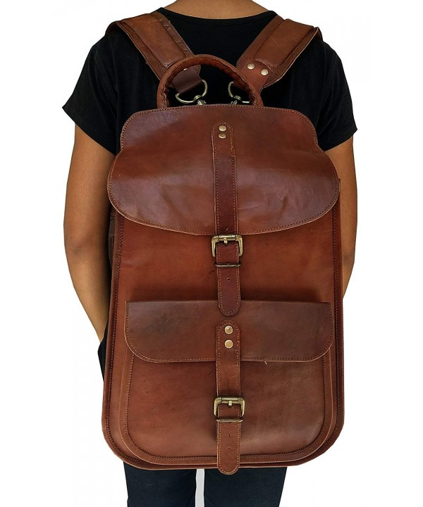 VINTAGE COUTURE Leather Backpack Computer