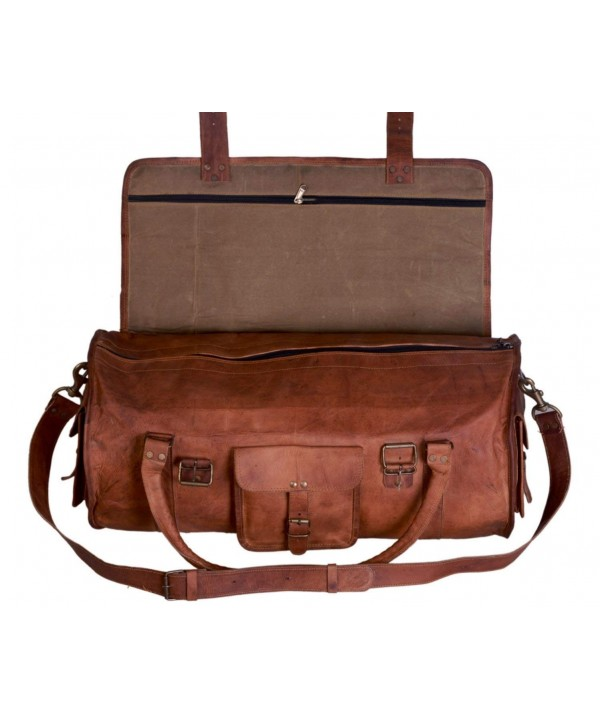 Duffel Travel Sports Overnight Leather