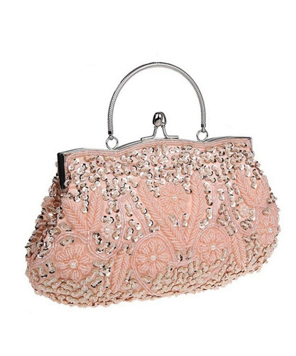 Womens Evening Two sided Handbag Champagne