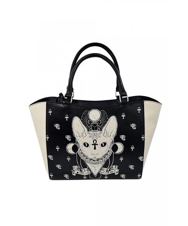 Banned Gothic Bastet Satchel Handbag