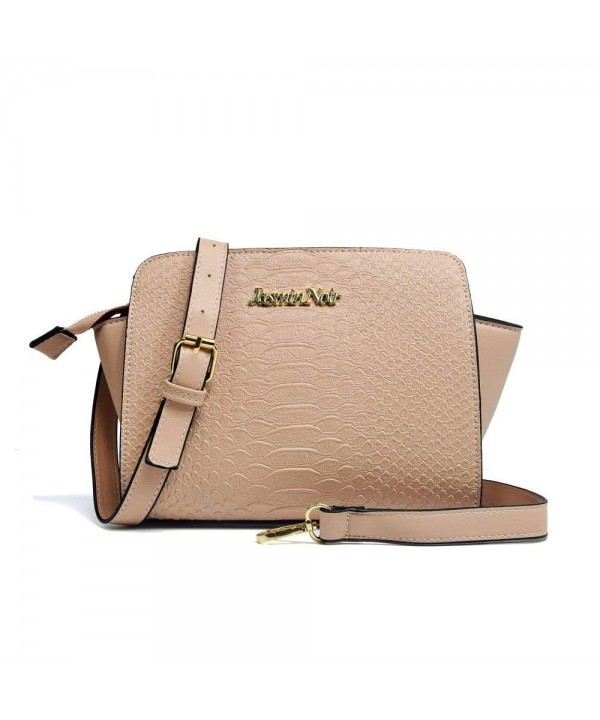 Women Cross Pattern Leather Messenger