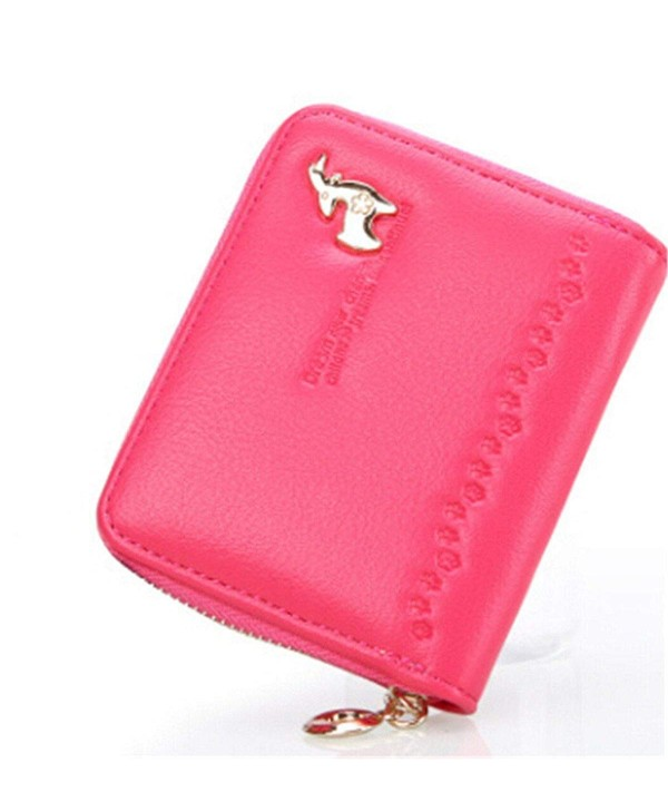 Womens Leather Zipper Handbag Holder
