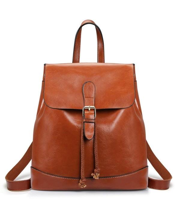 SAMSHOWME Backpack Leather Shoulder Casual