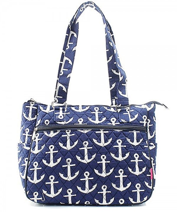 Nautical Anchor Quilted Canvas Handbag