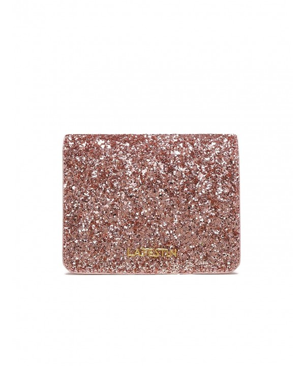 c112624a5f32 Cute Trifold Wallets for Women Glitter Leather Short Clutch - Card ...