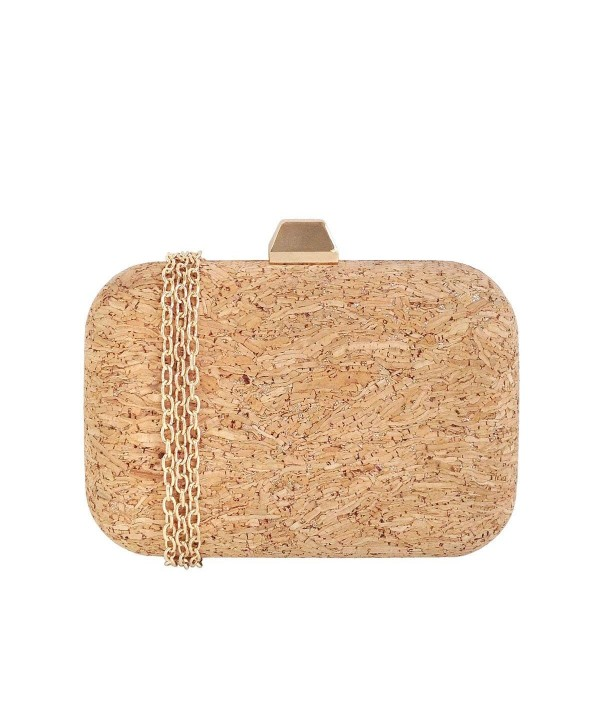JNB Cork Box Clutch GOLD