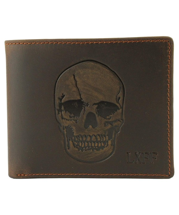 LXFF Skull Wallet Genuine Blocking