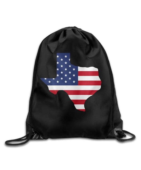 America Drawstring Backpack Rucksack Shoulder