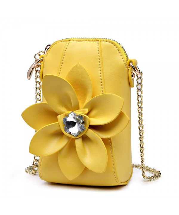 SUNROLAN Crossbody Flower Leather Satchel