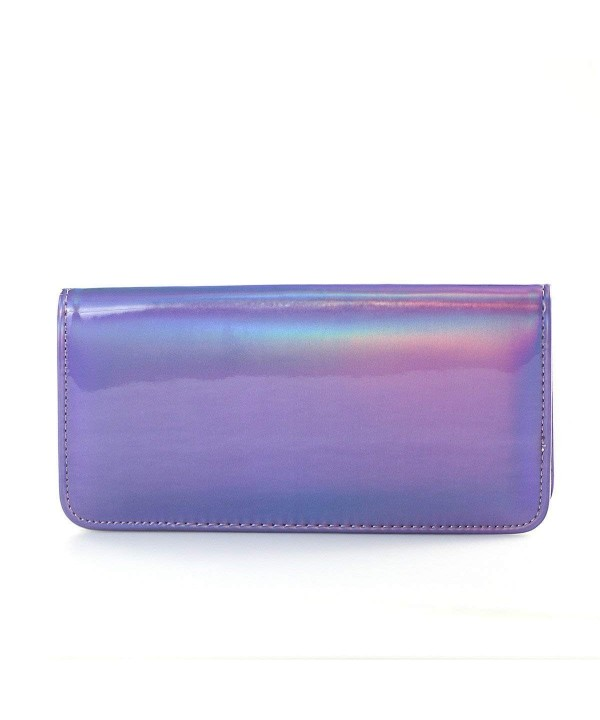 Mogor Womens Hologram Zipper Leather