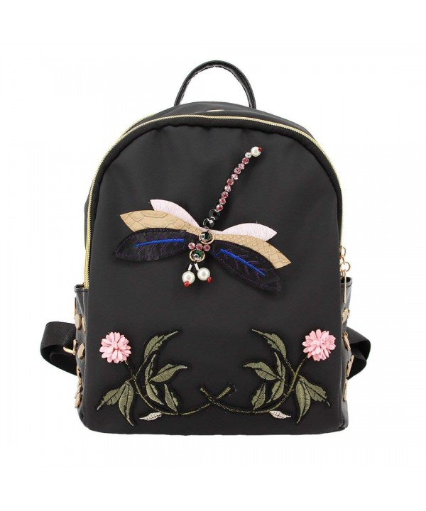 Liliam Fashion Embroidery Backpack Dragonfly
