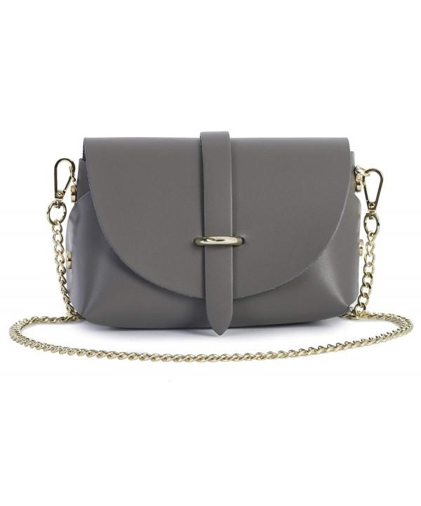 LIATALIA Genuine Leather Shoulder Handbag