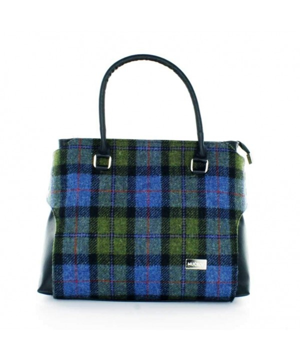 Ladies luxury Plaid Handbag Green