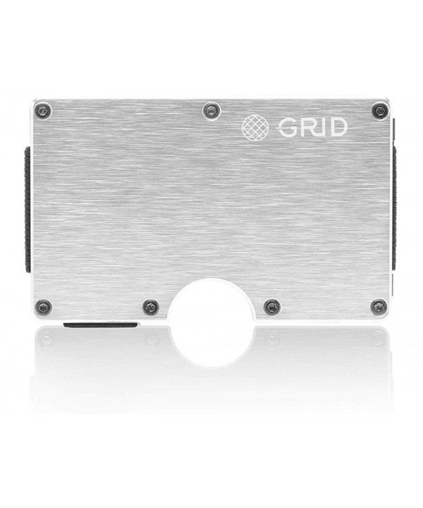 Grid Wallet Silver Aluminum Protection