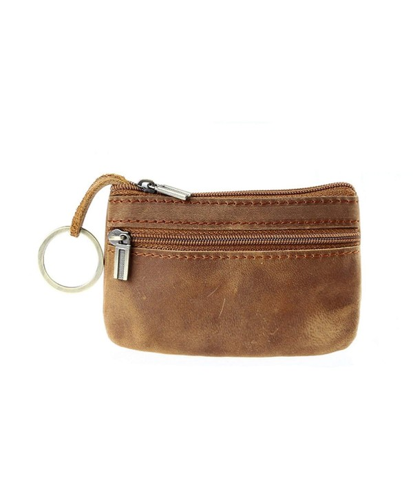 Wallet Leather Zipper Vintage Organizer