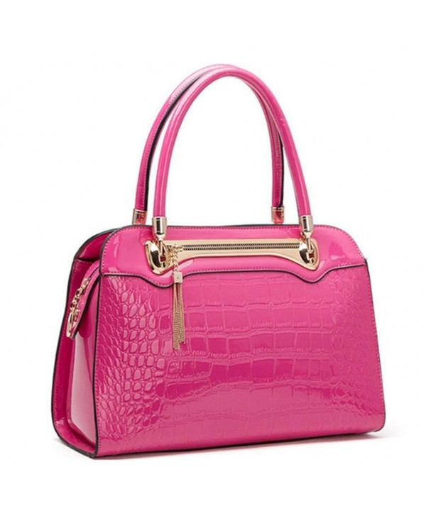 Bagtopia Embossed Crocodile Top handle Handbags