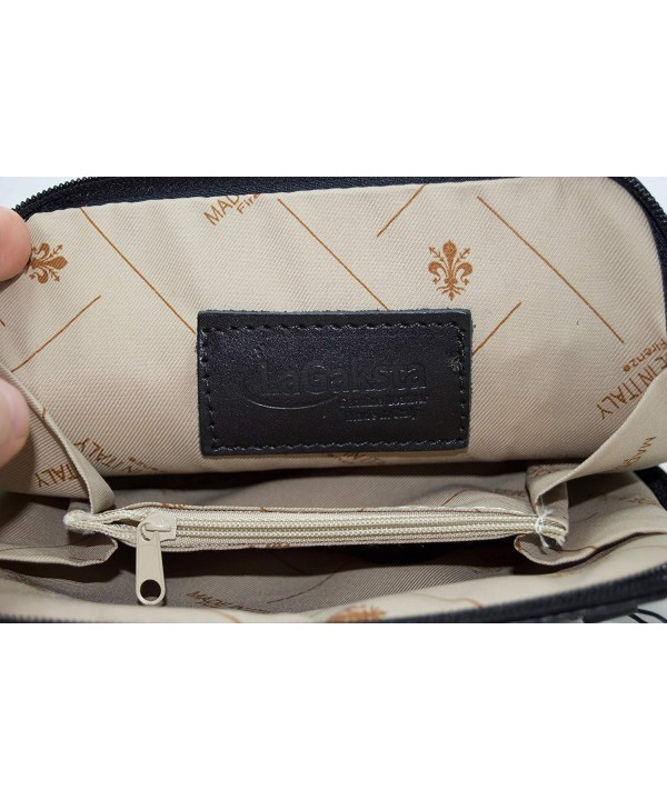 LaGaksta Italian Leather Crossbody Wallet