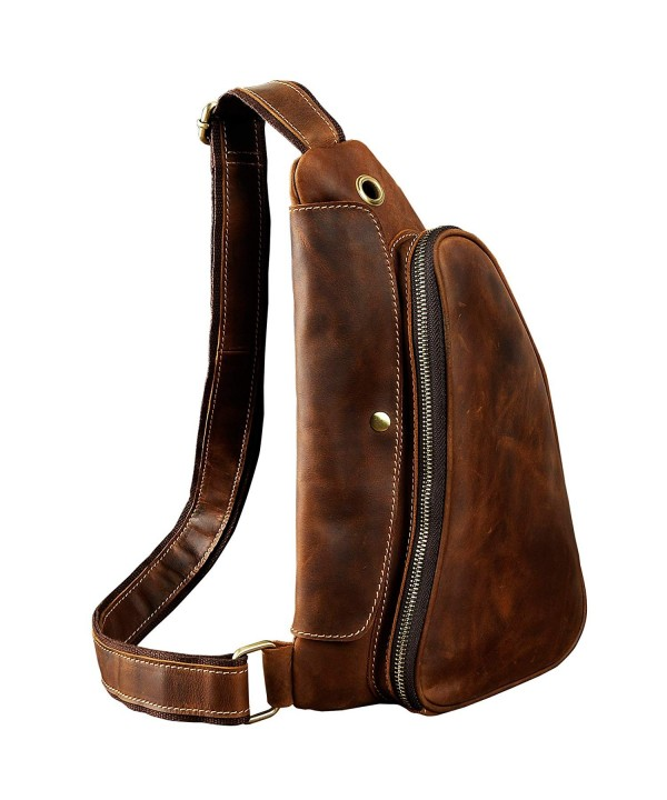 Leaokuu Leather Cycling Shoulder Backpack