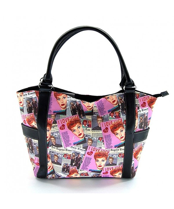 Love Lucy Collage Large Purse