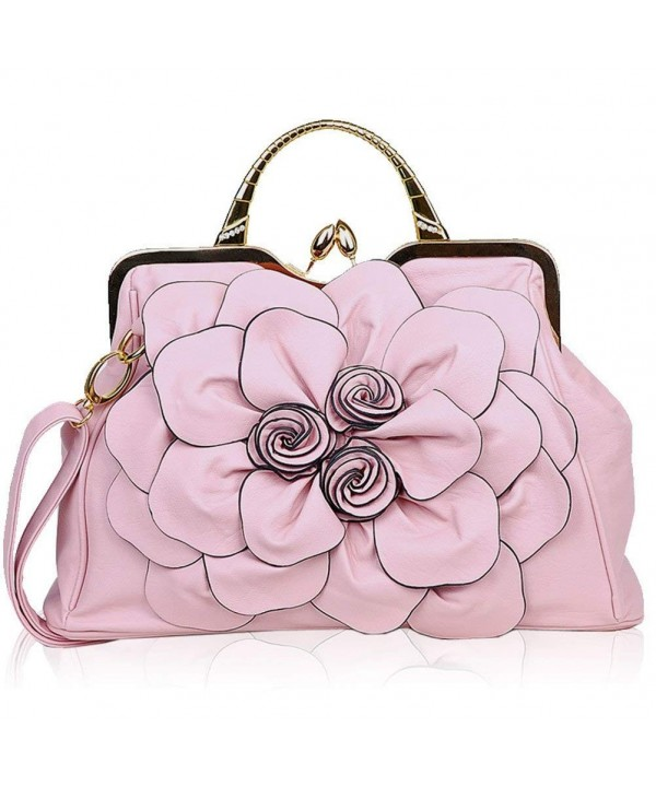 Zzfab Flower Purse Clasp Pink