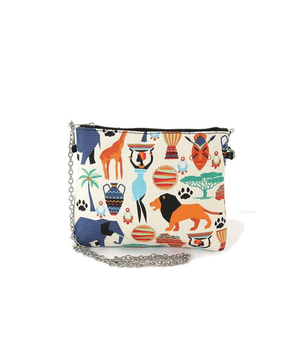 African Tribal Canvas Clutch Shoulder