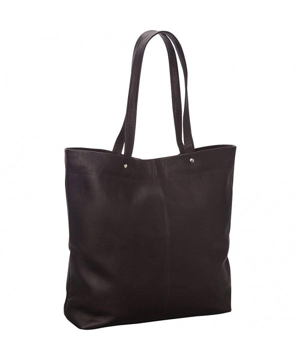 Donne Leather Deco Tote Cafe
