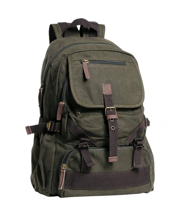 Vagabond Traveler Canvas Backpack Military