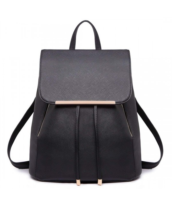 Miss Lulu Backpacks Saffiano Drawstring