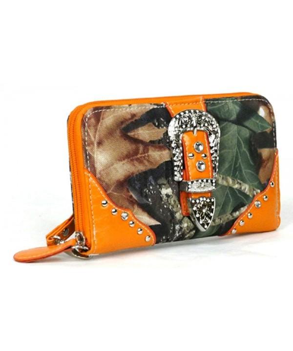 Western Orange Camouflage Buckle Wristlet