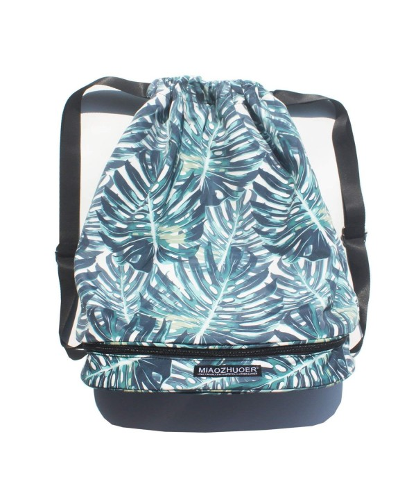 Drawstring Backpack Travel Separated Compartments