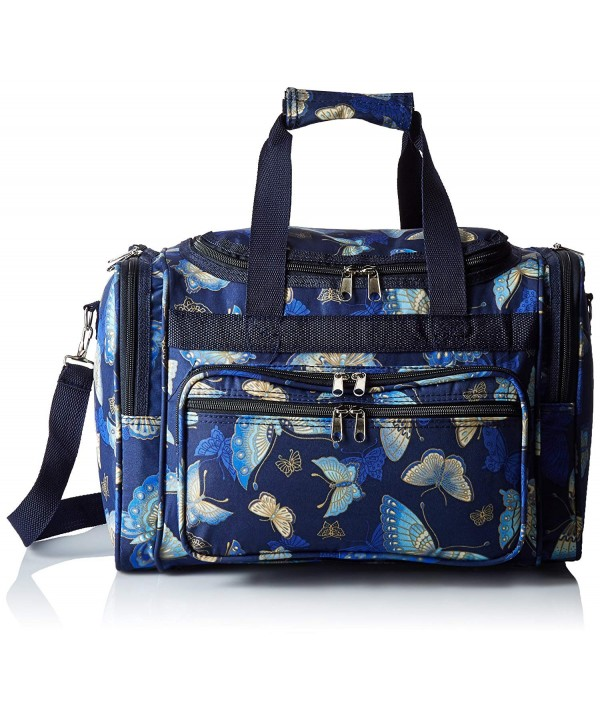 World Traveler Womens Duffel Butterfly