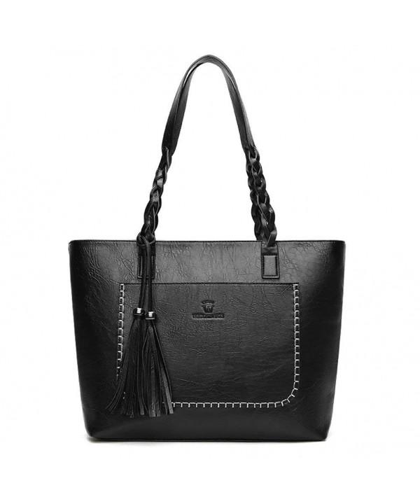 Vintage Leather Shoulder Handbag Capacity