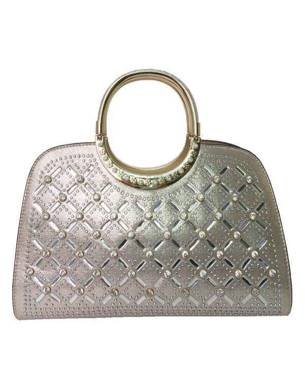 Satispac Womens Pattern Rhinestones Handbag