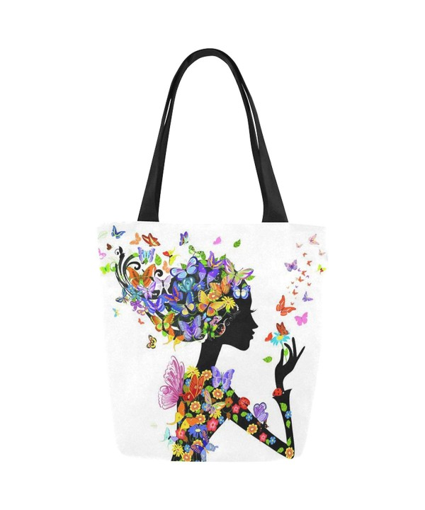 InterestPrint Flowers Butterflies Shoulder Handbag