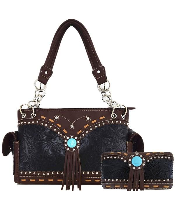 Turquoise Concealed Western Handbags Shoulder