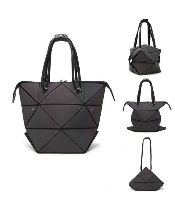 Geometric Changeable Luminous Satchel Shoulder