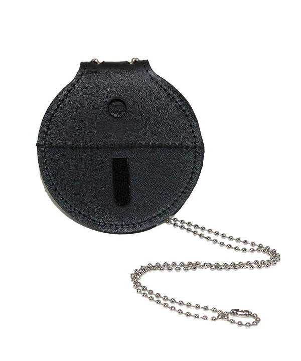 Boston Leather Circle Badge Holder