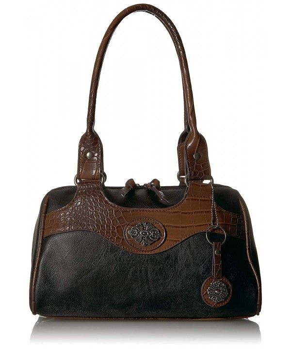 Bueno California Leather Mixed Satchel