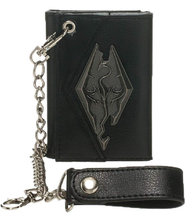 Skyrim Dragon Metal Badge Wallet