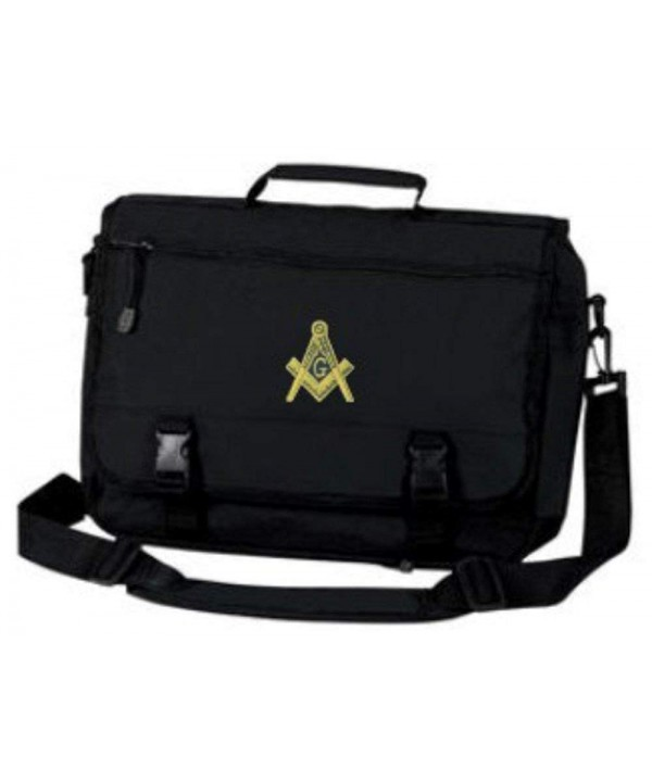 Masonic Briefcase Gold Embroidered Design Black